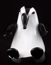 Glass Penguin Figurine Murano Style