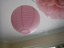 9x 30cm pink paper lanterns lights birthday wedding party event venue decoration
