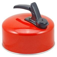 24090R 2.1lt  Whistling Camping Kettle Fixed Handle in Red