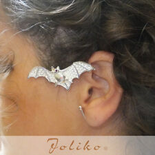 JoliKo Ohrklemme Silber pl. Ear cuff Earring Fledermaus Bat Nightbat POP LINKS