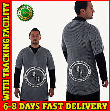 Aluminium Chainmail Shirt Butted Aluminum Chain Mail Haubergeon Medieval Armor