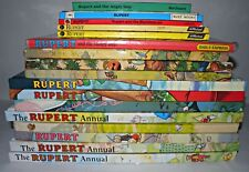 16x Rupert Annual/Book Collection, Hardback/Paperback, 1970-2000