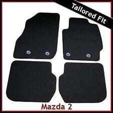 Mazda 2 Mk3 2007-2014 4-eyelets Tailored Fitted Carpet Car Mats BLACK