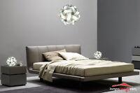 LAMPADARIO moderno sfera 35 cm + 2 ABATJOUR design 23 cm Design Scandinavo