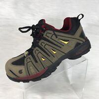 Nautilus Mens Composite Toe Safety Shoes Brown/Burgundy Faux Leather Sz 13 M
