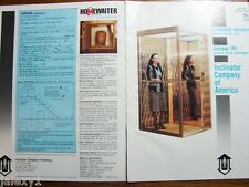1989 INCLINATOR CO of America Residential ELEVATORS Stairway Lifts VTG Catalog