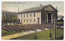 Inspection Garrison Chapel HALIFAX Nova Scotia Canada 1909 Connolly Postcard