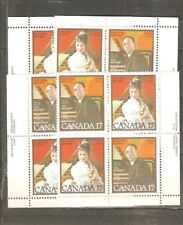 pk38062:Stamps-Canada #861a Musicians 17 cent Set of Plate Blocks-MNH