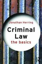 Criminal Law by Jonathan Herring (2009, Paperback)