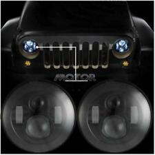 "Pair 7"" Inch Round Hi/Lo Sealed Beam LED Headlight For Ford Falcon/Jeep/Harley"