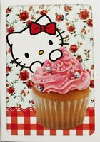 Hello Kitty blank card, Birthday, say thank you, good luck etc, cupcake theme