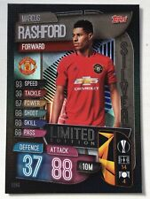 MATCH ATTAX 19/20 LIMITED EDITION MARCUS RASHFORD MANCHESTER UNITED SILVER LE9S