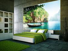 Boot in einer Bucht XXL Wanddekoration Wohnzimmer paradiesischer Strand Poster