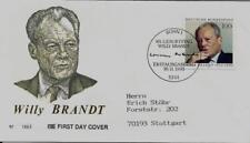 """BRD FDC MiNr 1706 (3bG) """"80. Geburtstag von Willy Brandt"""" -Politiker-Nobelpreis-"""