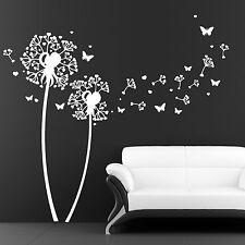 11006 Wandtattoo Herz Pusteblume Pollen Schmetterlinge Blumen Deko Aufkleber