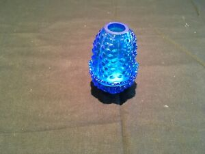 Vintage Fenton blue hobnail fairy lamp