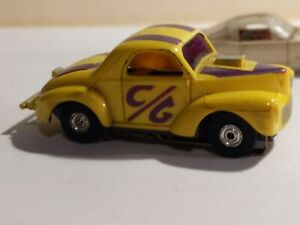 Vintage Aurora Thunder Jet  Willys Gasser #1474 EX and Mustang body