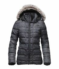 NWT The North Face Women Gotham Black SMALL S Faux Fur Hood 550 Down Jacket COAT