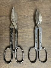 """Vintage WISS A-10 & Compton Service Tin Snips Shears Forged Steel 12"""""""
