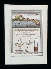 1747 BELLIN -rare map AFRICA WESTERN, SENEGAL, GOREE ISLE, DAKAR, ATLANTIC OCEAN