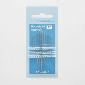 Sewing Needles 12 Pack Assorted Sizes Hand Easy Thread Big Eye Set