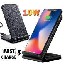 Für Samsung S9 S10 Plus iPhone XS Max Kabellos Qi 10W Schnell Ladegerät Ständer