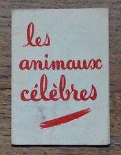 Vache qui Rit Ancienne Carte Publicitaire Dépliante : Les Animaux Célèbres