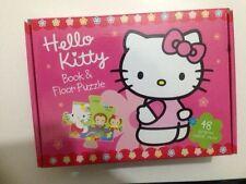 48PC Hello Kitty Book & floor puzzle avec étui de transport, neuf, livraison rapide