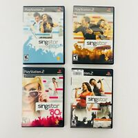 Singstar Playstation 2 PS2 Music Singing Video Game Lot - Pop Amped 80's Rocked