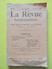 La Revue Hebdomadaire 1909 n° 9 Maurice Sabatier Le Concordat Edouard Rod