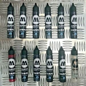 3x Molotow GRAFX 30ml Water-based Aqua Ink / Blender Refill