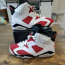 Nike Air Jordan 6 Retro Carmine Red White Ice 2021 Release Men's Sz Size 8.5