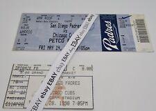 San Diego Padres vs Chicago Cubs Stub LOT of 2 Qualcomm Stadium/ Petco Park