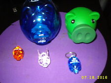 Bank promo Piggy Banks-Citi,Northfield,PNC,Spencer savings bank mini flaslight