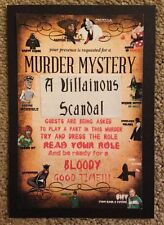 NEW Murder Mystery Party Game for 12 people: A Villainous Scandal - Buy 1 get 1!