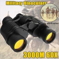 Day/Night 60x60 Military Army Zoom Ultra HD Binoculars Optics Hunting Camping SD