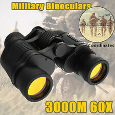 60x60 Military Army Zoom Ultra HD Binoculars Optics Hunting Camping telescope SD