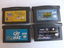 Nintendo Gameboy Advance game Lot of 4 Games. Dora, Cat in the Hat