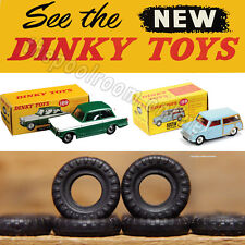 DINKY TOYS TYRES X 10 - 12mm Diameter, Treaded, for Mini's Triumph Herald