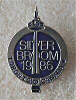 CURLING 1986 SIVER BROOM TORONTO CANADA SOUVENIER PIN ÉPINGLETTE