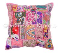 """Square Patchwork Cushion Cover 16"""" Decorative Throw Pillows Case Christmas Gift"""