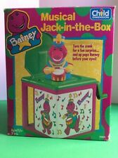 Vintage 1997 Hasbro Barney And Friends Jack In The Box Musical Toy-Music Off Key