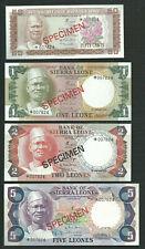 Sierra Leone 1978 50 Cents 1 2 5 Leone P 4 5 6 7 CS1 Specimen UNC