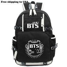 KPOP Bangtan Boys BTS Luminous Bookbag Shoulder Bag Backpack School Bag