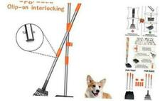 Babyltrl Dog Pooper Scooper, Stainless Metal Pet Poop Tray and Rake
