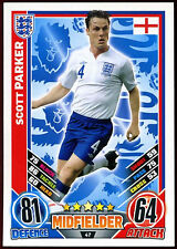Scott Parker England #47 England 2012 Match Attax TCG Card (C206)