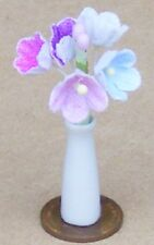 1:12 Scale Forget Me Not Flowers Loose In A Ceramic Vase Tumdee Dolls House W46