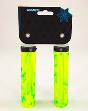 Supacaz Grizips Bicycle Lock-On Grips 135mm Neon Yellow/Blue Splash