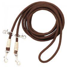Royal King Brown Nylon Cord Draw Reins Horse Tack 43-1002