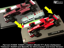 Decal Additif 1/43 Ferrari F 399 Irvine Salo Schumacher and Marlboro F1 altaya